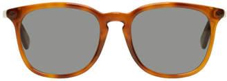 Gucci Tan Tortoiseshell Square Sunglasses