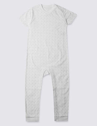 Marks and Spencer Grey Unisex Star Sleeping Suit (3-8 Years)