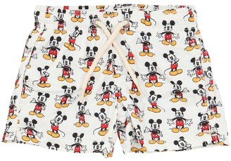 MC2 Saint Barth Mickey Mouse Print Nylon Swim Shorts