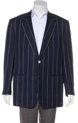 Isaia Striped Wool & Linen Blazer