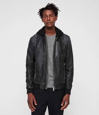 AllSaints Abbot Leather Bomber Jacket