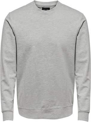 ONLY & SONS Crewneck Cotton Blend Sweatshirt