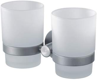 Aqualux Haceka Kosmos Double Glass Beaker and Chrome Holder