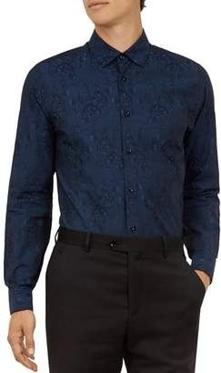 Ted Baker Wasabi Jacquard Floral Button-Down Shirt