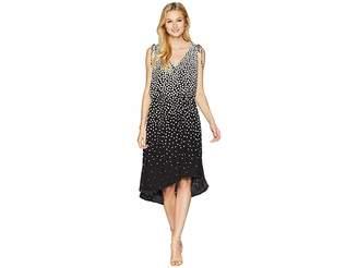 Adrianna Papell Moody Dot High-Low Dress
