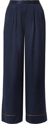Eres Boarding Silk-satin Pajama Pants - Navy