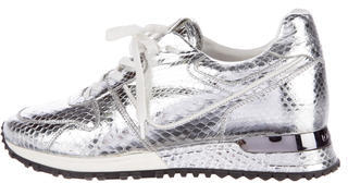 Louis Vuitton Snakeskin Run Away Sneakers $795 thestylecure.com