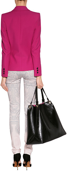 Emilio Pucci Rosebud Cotton Blend Blazer