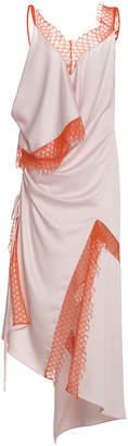 CHRISTOPHER ESBER Kukkapuro Lattice Lace Satin Crepe Dress
