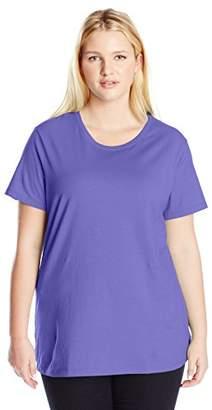Just My Size Womens Cotton Jersey Short-Sleeve Crewneck Tee