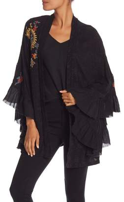 Free People Dottie West Embroidered Kimono