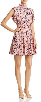 Kate Spade Prairie-Rose Sleeveless Ruffle-Trim Dress