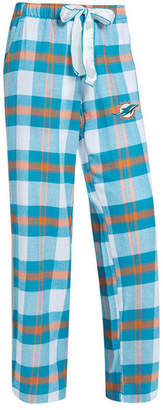 Concepts Sport Women's Miami Dolphins Headway Flannel Pajama Pants