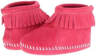 Minnetonka Kids Suede Back Flap Bootie Kids Shoes