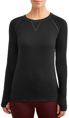 Cuddl Duds Climateright By ClimateRight by Women's and Women's Plus Comfort Core Warm Long Underwear Top