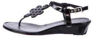 Diane von Furstenberg Patent Leather Thong Wedges