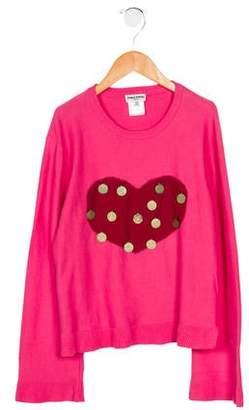 Sonia Rykiel Girls' Intarsia Embellished Sweater