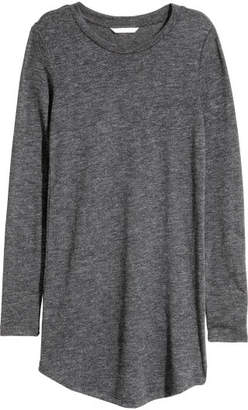 H&M Long-sleeved Jersey Shirt - Gray