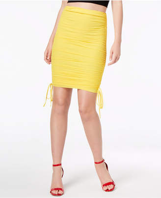 Material Girl Juniors' Ruched Pencil Skirt, Created for Macy's