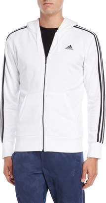 adidas Essential 3-Stripe Full-Zip Hoodie