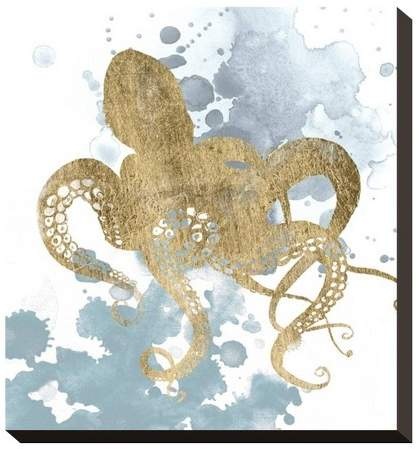 Gilded Splash I By Grace Popp Unframed Wall Canvas