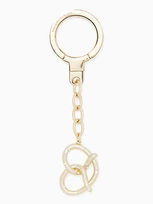 Kate Spade Jeweled pretzel keychain