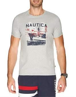 Nautica Short Sleeve Sailor Ship Tee