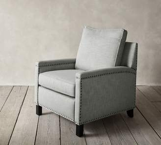 Pottery Barn Tyler Upholstered Square Arm Recliner With Nailheads