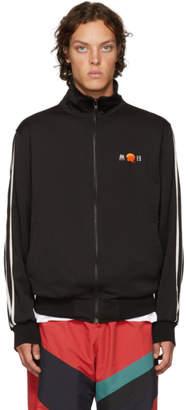 D by D Black Velvet Stripe Track Jacket