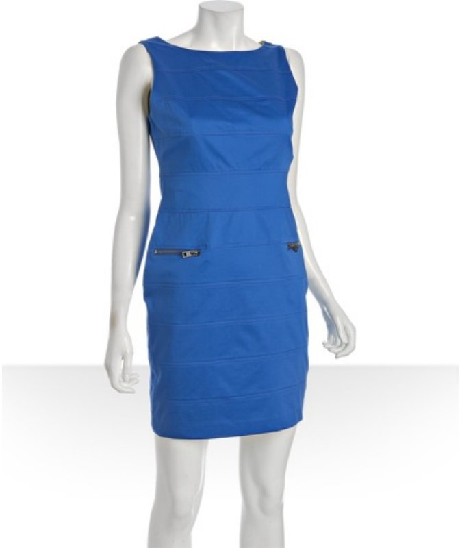 Marc New York blue zipper detail bandage sheath dress