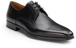 Leather Square Toe Lace-Ups - Available in Extended Sizes