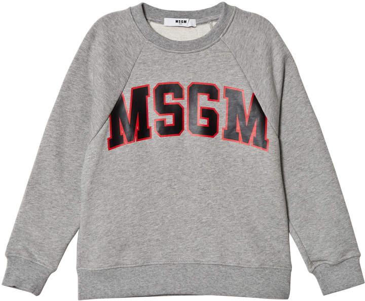 Msgm Grey Logo Sweatshirt