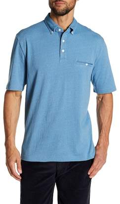 Thomas Dean Garment Dye Short Sleeve Knit Polo