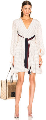 Stella McCartney Long Sleeve Mini Dress in Natural | FWRD