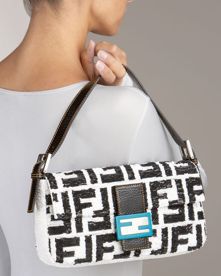 Fendi Sequined Borsa Baguette Bag