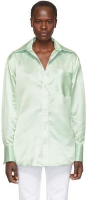 Matthew Adams Dolan Green Oversized Oxford Shirt