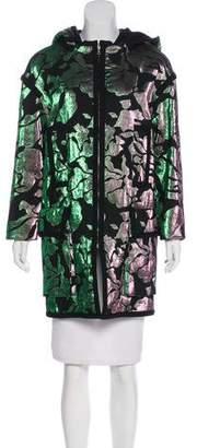 Marc Jacobs Metallic Hooded Coat