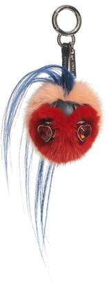 Fendi Heart Genuine Mink & Goat Fur Bag Charm
