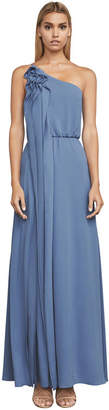 BCBGMAXAZRIA Joyce One-Shoulder Ruffle Gown