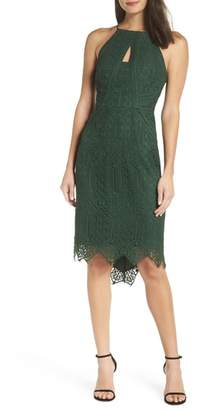 Harlyn Halter Neck Lace Body-Con Dress