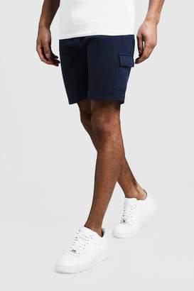 boohoo Jersey Cargo Mid Length Shorts