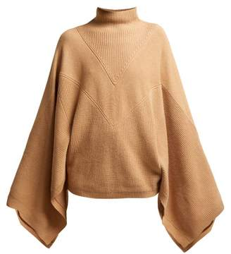 Givenchy Cashmere High Neck Sweater - Womens - Camel
