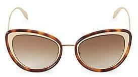 Alexander McQueen Women's 54MM Mod Cat Eye Sunglasses