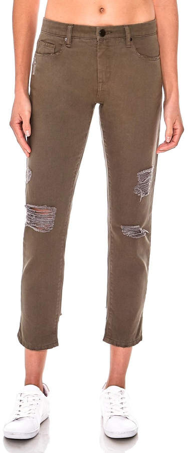 Blank NYC Olive Girlfriend Cropped Pants