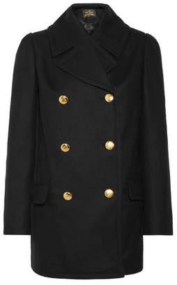 Vivienne Westwood Mosto Double-breasted Melton Wool Coat - Black