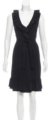 RED Valentino Ruffle-Trimmed Sleeveless Dress