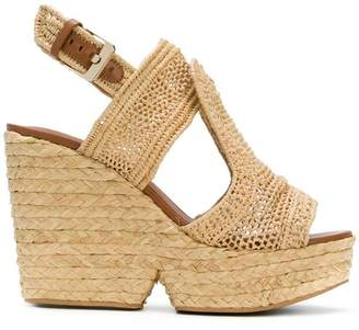 Clergerie woven wedge sandals