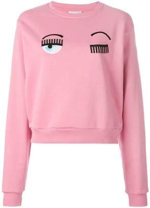 Chiara Ferragni eyes blink sweatshirt