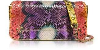 Jerome Dreyfuss Bob Nirvana Printed Python Leather Shoulder Bag