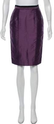 Valentino Wool and Silk-Blend Knee-Length Skirt